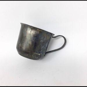 Vintage Leonard silver plated teacup